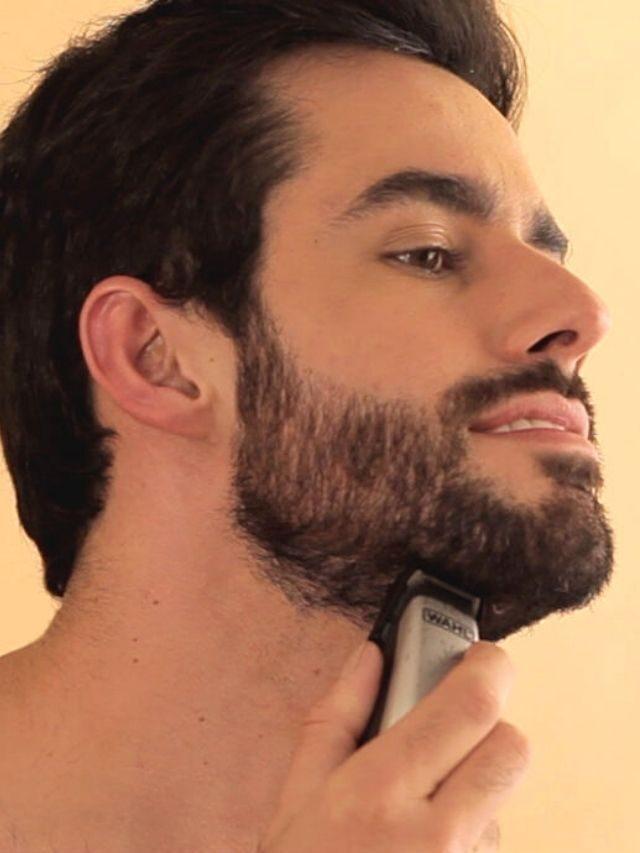 Como aparar e desenhar a barba