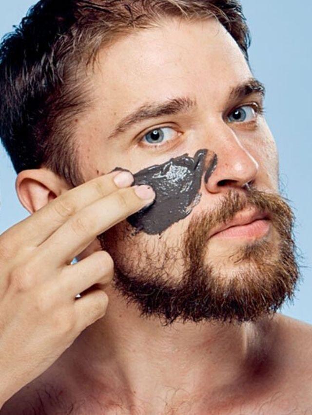 Máscara facial  é coisa de homem