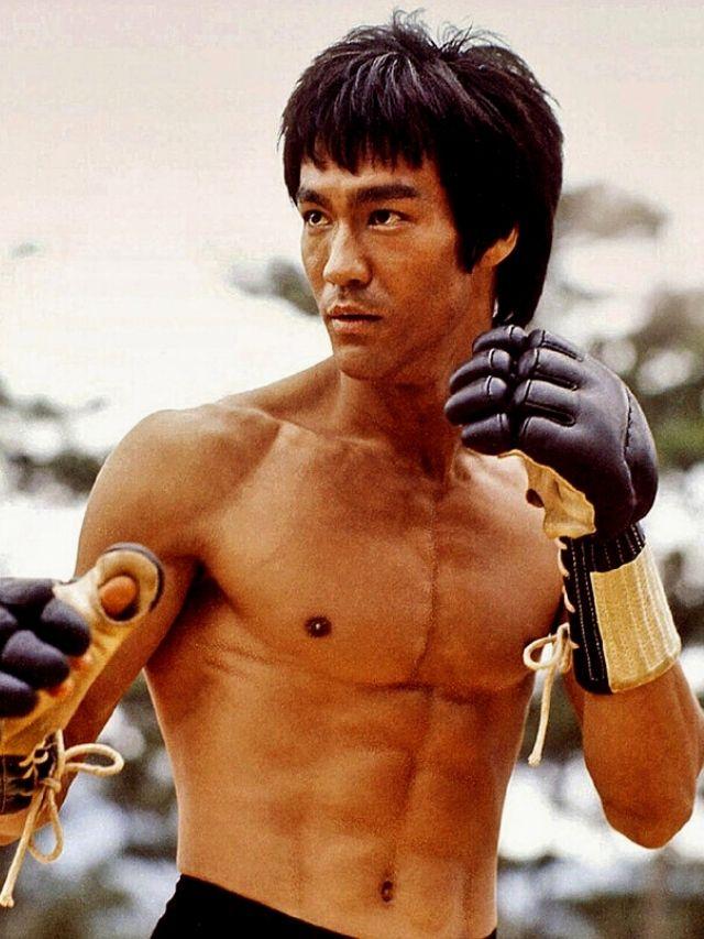 Homem No Espelho - Os 10 físicos mais icônicos de Hollywood - Bruce Lee